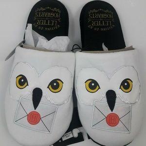 Harry Potter Hedwig Owl White Slip On Slippers